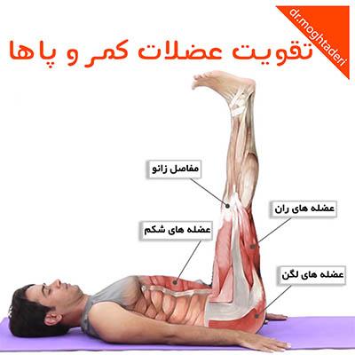 تقویت عضلات کمر و پا ها